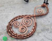 Recycled Copper Pikoura necklace - the twist - the bond between us